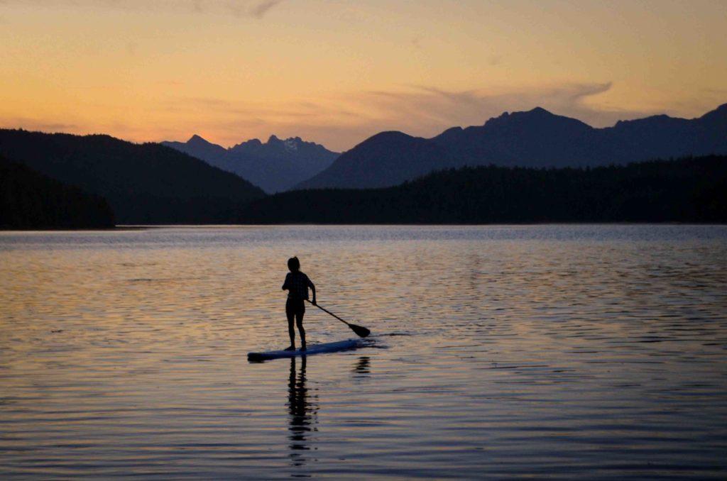 Coucher de soleil paddle