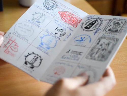 Passport compostelle tampons