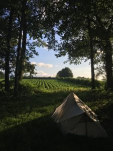 st jacques randonnée camping tarp