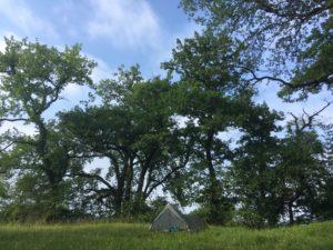 rando chemin bivouac tarp camping gr65