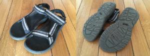 chaussures sur chemin de compostelle